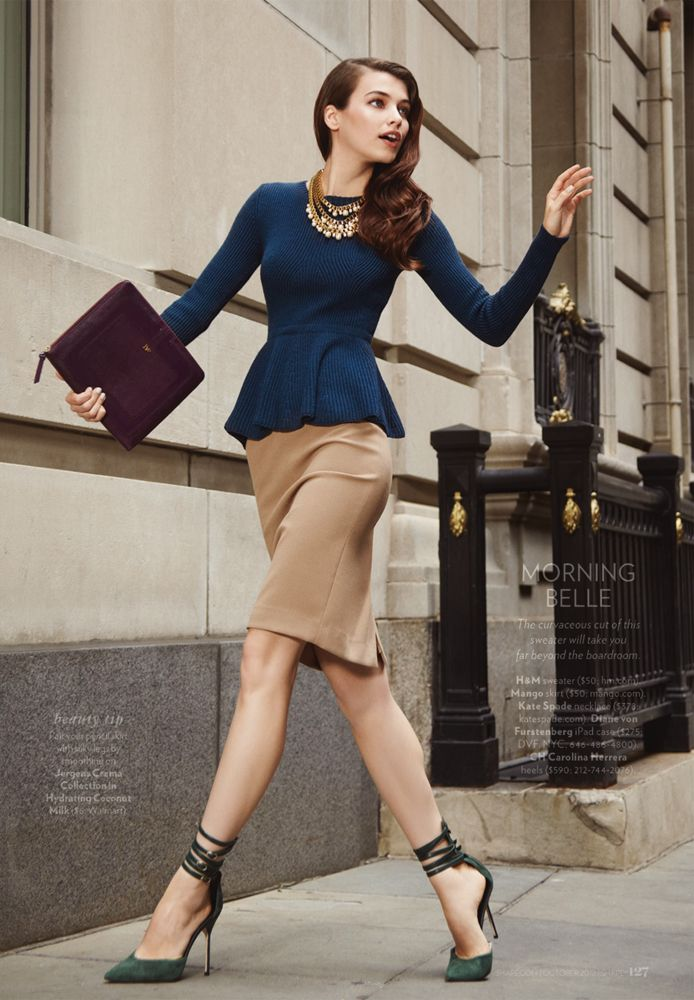 Shape Magazine Fashion Editorial Images In New York, Iulia