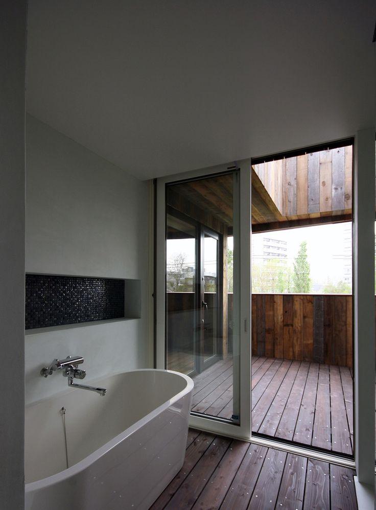 石塚和彦アトリエ一級建築士事務所 の モダンな 洗面所/風呂/トイレ SPROUT