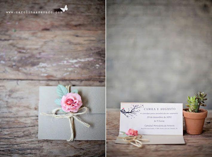 Mini Wedding invitation. Lovely.