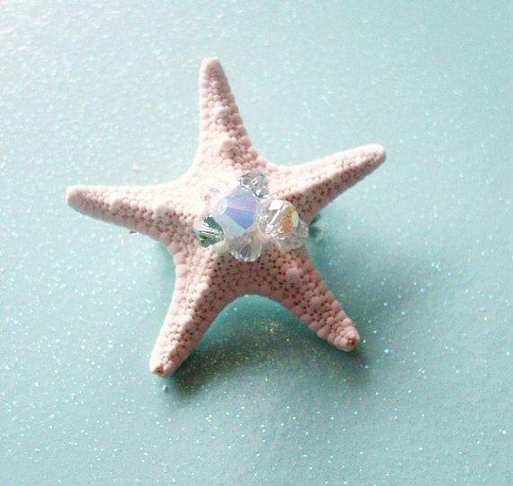 Sposa Stella Marina capelli Clip Starfish Barrette spiaggia sposa capelli sposa sirena accessorio capelli Clip Mermaid Costume sirena accessori estate