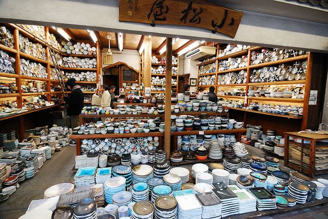 Boutique de vaisselle japonaise, Tokyo.