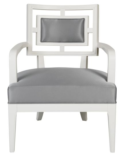 It has a zen feel to it.  The St. Germain Accent Chair from Urban Barn is a unique home decor item. Urban Barn carries a variety of Sale Furniture and other  products furnishings.