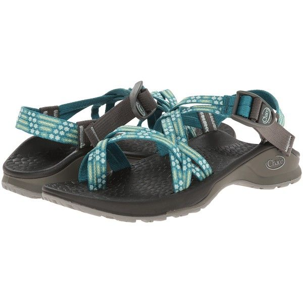 Chaco Updraft EcoTread X2 Women's Sandals, Green ($76) ❤ liked on Polyvore featuring shoes, sandals, green, chaco footwear, american shoes, chaco shoes, buckle platform sandals and buckle shoes