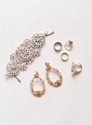 Silver and Gold Wedding Jewelry and Accessories