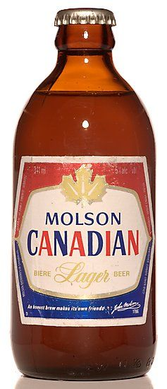 The classic Stubby beer. Molson Canadian!