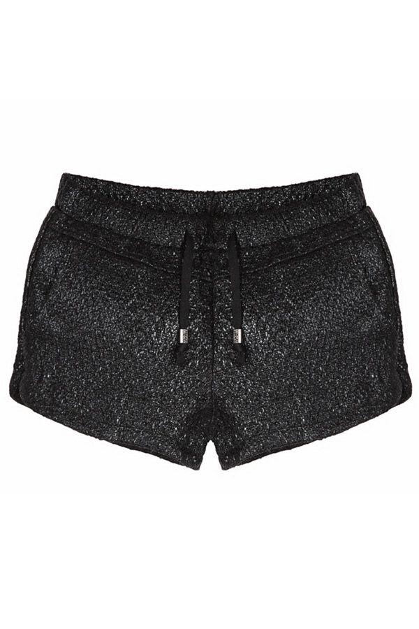 Drawstring Glitter Shorts - OASAP.com