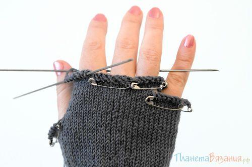 Распределение петель для пальцев