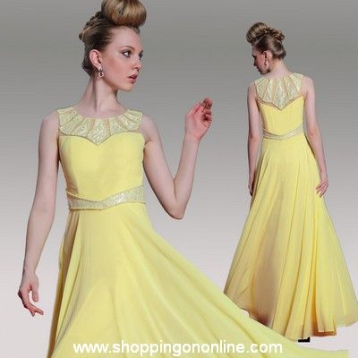 Yellow Prom Dress - Silk Sleeveless $186.40 (was $233) Click here to see more details http://shoppingononline.com/prom-dresses/yellow-prom-dress-silk-sleeveless.html #YellowPromDress #SilkPromDress #SleevelessPromDress #YellowDress #PromDress
