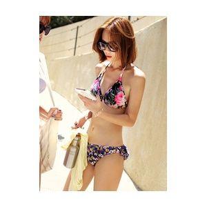 [픽키스트] korea fashion 퓨어링 bikini 센스있는 언발란싱 패턴 비키니 - 41,500원 by 다홍