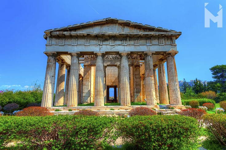 Finally, spring is just around the corner and the lovely weather is calling for you to take a turn through Hephaisteion, the temple of Hephaestus in Athens. Immersed in the greens of the Ancient Agora, this very well-preserved temple of the 5th century B.C., welcomes you to see how the Greek temples used to be... Dedicated to Athena Ergane and Hephaestus, patrons of craftsmen and artisans, no wonder why until the mid-20th century the surrounding areas were districts of metalworkers etc. ;)