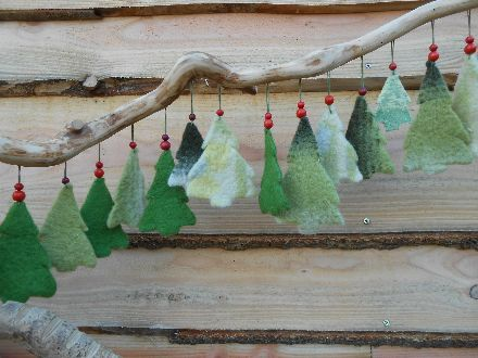 Christmas trees out of vintage woolen blankets, by EEXTERHOUT
