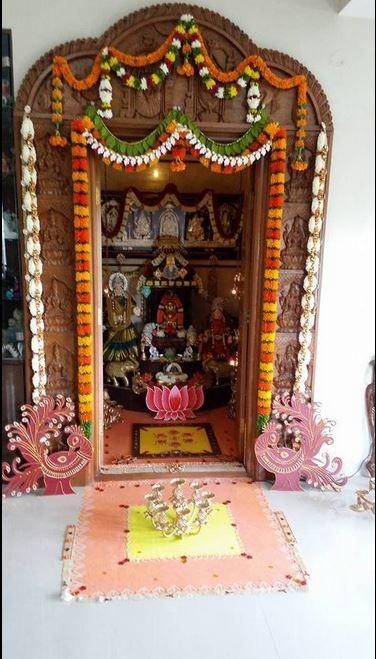 Pooja Room Decoration Ideas for Varalakshmi Festival