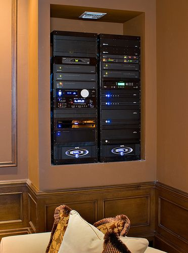Home Theater in Wall Rack | RUNCO 103″ PLASMA HOME THEATER SYSTEM | Advanced – Electronic ...