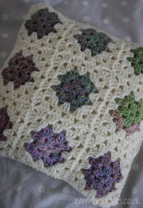 Granny Square Crochet Cushion Cover