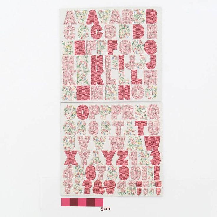 Hobbycraft Papercraft Chipboard Alphabet Stickers Pink 204 Pieces