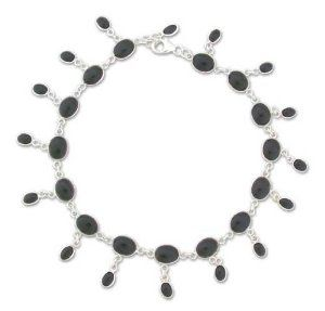 Onyx anklet, 'Moon Dancer' NOVICA. $72.95. Handmade by Shanker.. A fair trade product. Normally ships directly from India within 10 days.. Save 49% Off!