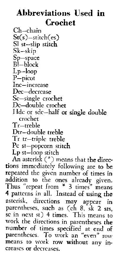Crochet Pattern Abbreviations Us : Best 25+ Crochet Abbreviations ideas on Pinterest ...