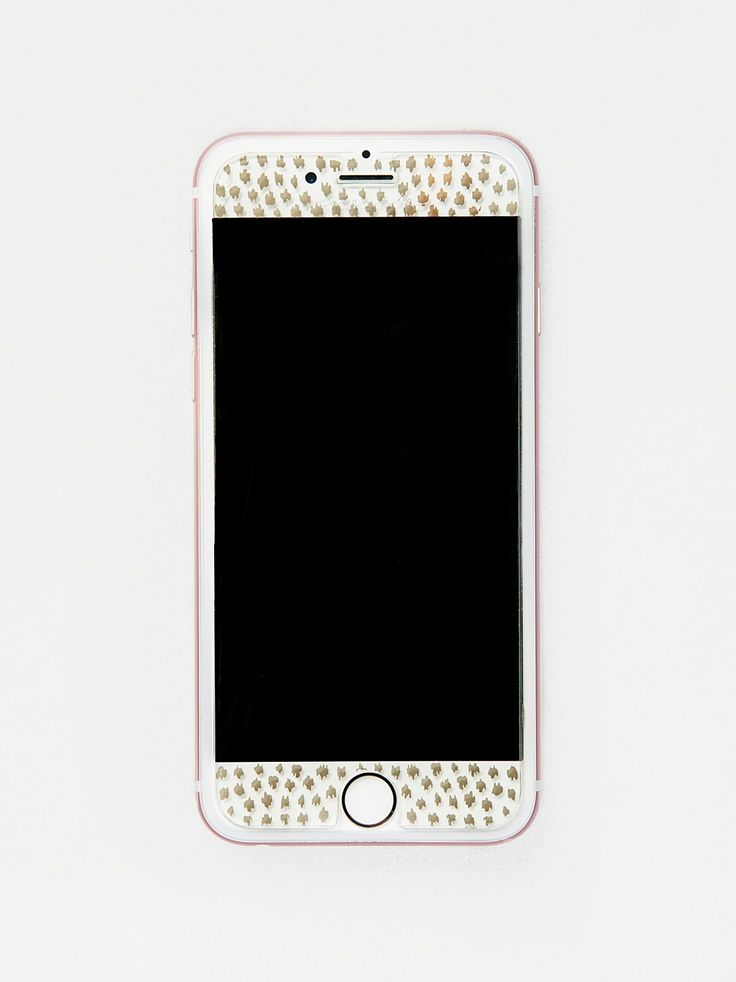 Gilded Glass Screen Protector | Protect your phone in style with this printed gilded glass screen protector that attaches easily to your tech.    * Maximum scratch protection, high touch sensitivity and anti-fingerprint technology   * Fits iPhone 6, 6s and 7