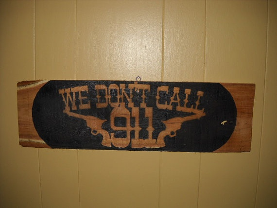 Redneck Alarm System by PhillipBishop on Etsy, $15.00