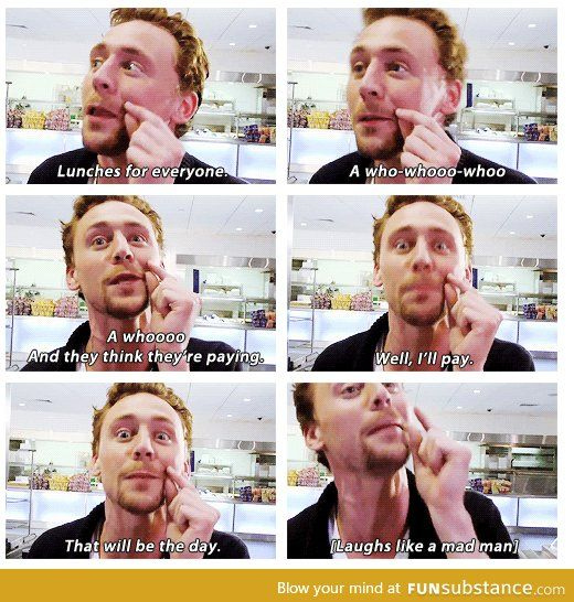 Tom Hiddleston playing pranks. #Loki'd have to watch this prank. Sooo funny !!!!!!!