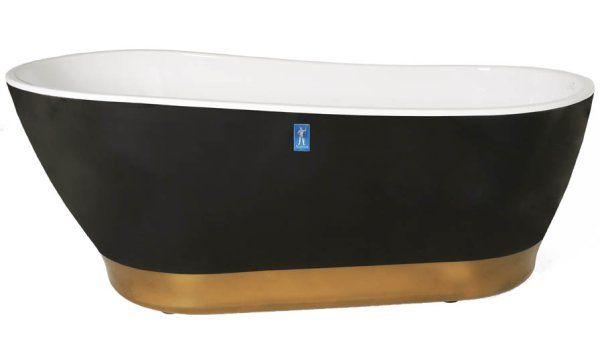 Neptun Porfyr Simon & Tomas Sort/Gull 170x85 Simon og Tomas, Sveriges mest kjente designerpar, har spesialdesignet et luksuriøst frittstående badekar. Porfyr Simon og Tomas henvender seg til deg som stiller store krav til komfort og badedybde samt vil ha god plass på badet. En fresk fargekombinasjon som garantert skiller seg ut. Den er veldig stilig å se på og gir en total badeopplevelse, som Simon og Tomas uttrykker det. Pris pr stk. 19.990,-
