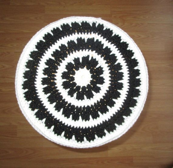 Crochet Bar Stool Cover Black And White by CoralsChicBoutique