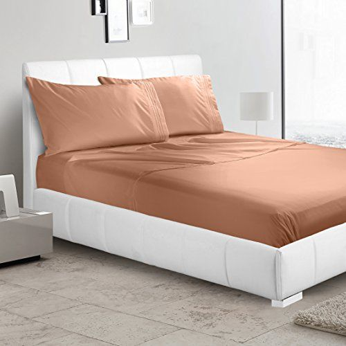Luxury Flat Sheet by Nestl Bedding - Premium Quality Silky Soft Hypoallergenic Microfiber - Wrinkle, Fade & Stain Resistant Bed Sheet - Twin, Rust Sienna (Orange Brown)  ENJOY UNMATCHED COMFORT AND A PEACEFUL NIGHT SLEEP: Do you want to lay on your bed and feel like you are on vacation, spending your time in a 5 star hotel room? The Nestl Bedding luxury Flat sheet promise to offer you the ultimate, most relaxing experience! Let your silky soft sheet caress your skin, enjoy a peaceful n...