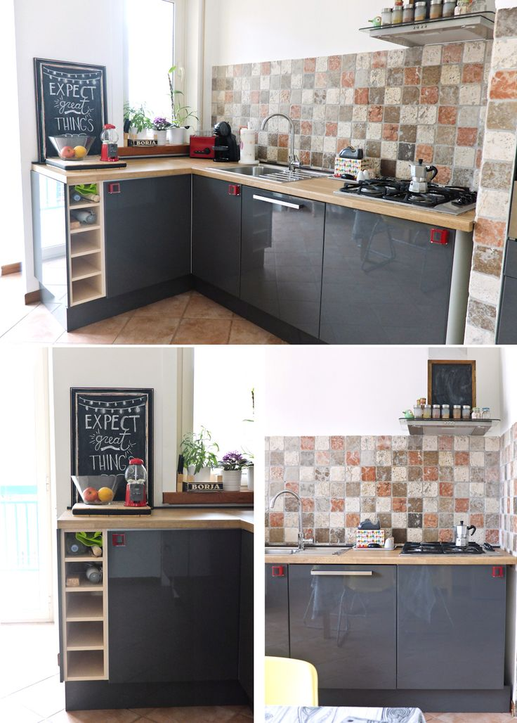 ikea kitchen grey abstrakt doors and laminate personlig oak countertop kitchen pinterest. Black Bedroom Furniture Sets. Home Design Ideas