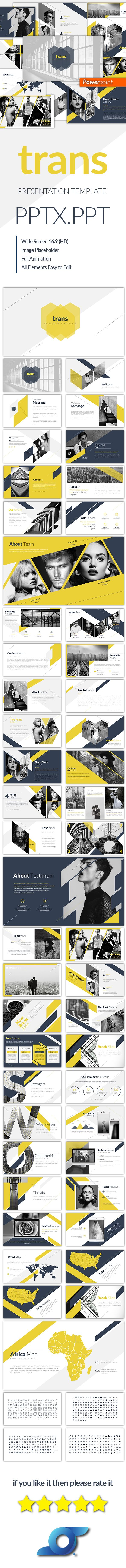 Trans Creative Powerpoint Templates - Abstract #PowerPoint Templates