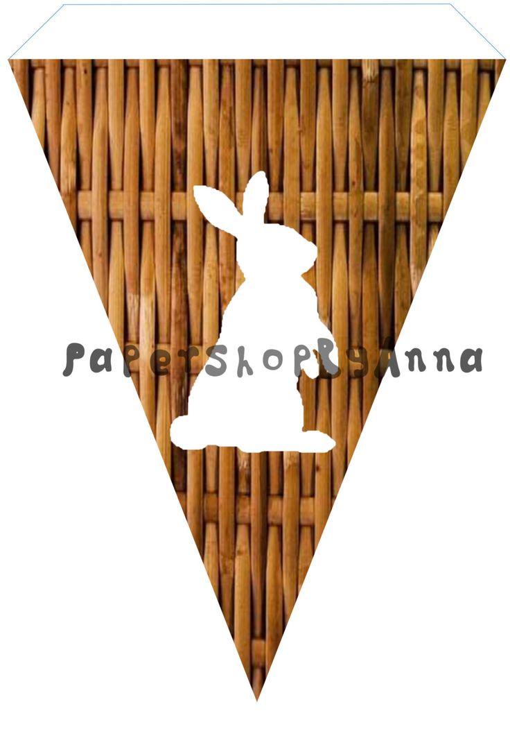 Garland rabbit, garland Easter, Easter banner , Ester garland, rubbit banner, Easter decor,Ester bunny garland, Ester decoration, home decor by PaperShopByAnna on Etsy