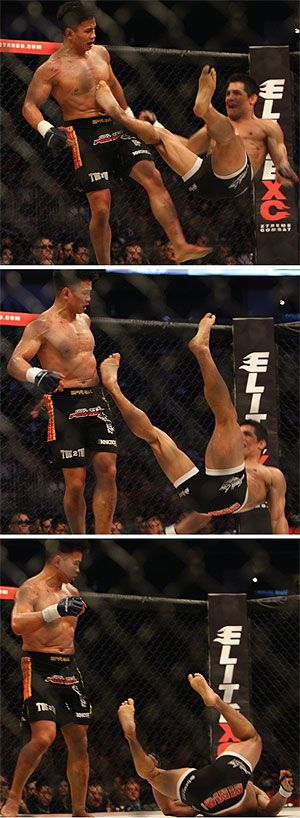 """Sanshou, """"The Art of the Free Hand.""""  Good article on what is Sanshou!  a combat system originated from China. Many think Sanshou/Sanda is similar to Muay Thai. Punches, kicks, elbows and knees are utilized. Differences? Sanshou allows Judo sweeps and wrestling take downs. Unlike Muay Thai, you will not see clinching in Sanshou. UFC and film star Cung Le is a master of it. Chinese martial arts http://www.fightmagazine.com/mma-magazine/sanshou-2789/"""