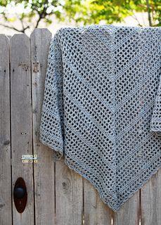 Morning Has Broken - free triangular crochet shawl pattern by Kelly Surace.