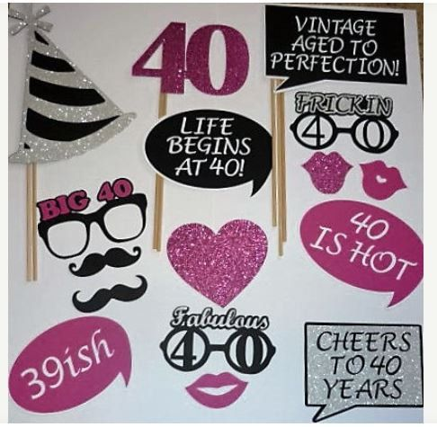 40th Birthday Photo Prop / Fabulous 40 / by CustomCreativeCraft