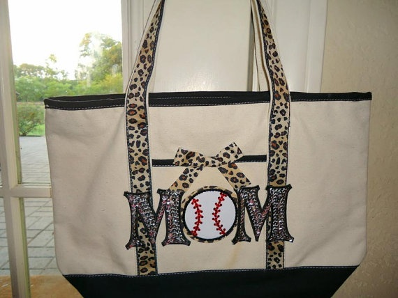 Baseball Mom Tote by DLoveCouture on Etsy, $45.00
