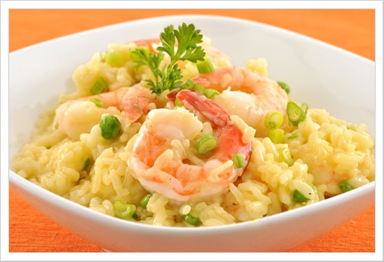 Shrimp Risotto: Served with a salad and a glass of wine, this simple ...