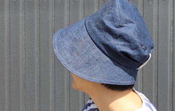 denim cloche hat, pattern from Cotton Friend magazine