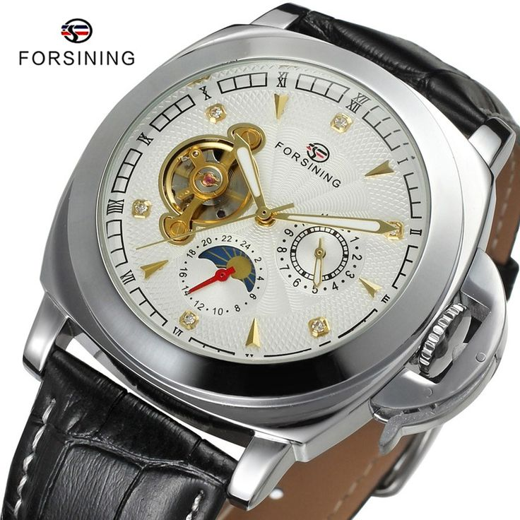 Find More Sports Watches Information about 2 Colors FORSINING Brand Casual Male Sports Clock Men Leather Automatic Moon Phase Mechanical Mens Sport Watch relojes hombre,High Quality sport watch automatic,China sport led watch Suppliers, Cheap sport watch review from YIKOO Watches Store on Aliexpress.com