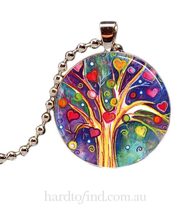 Rainbow Tree of Life Pendant,  Hug Me Harry $23