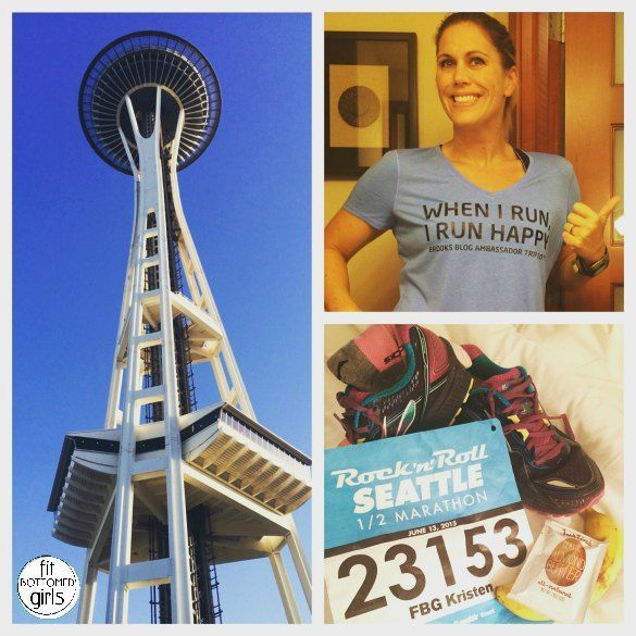 Kristen ran the Rock 'n' Roll Seattle half marathon, and while she planned to take it easy with not pace or finish goals, she ended up with a slightly different race plan.