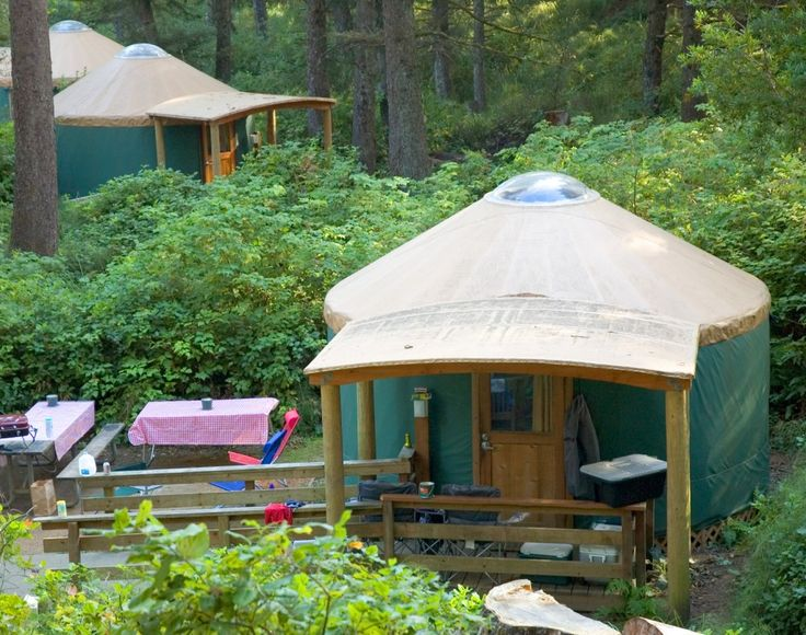 beach camping in oregon or rent a yurt glamping