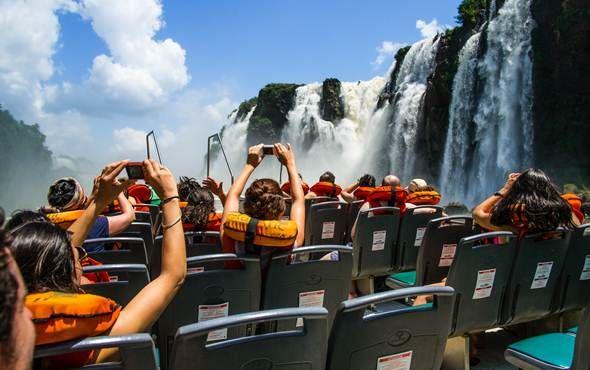Exhilirating boat ride at Iguazu Falls, Argentina