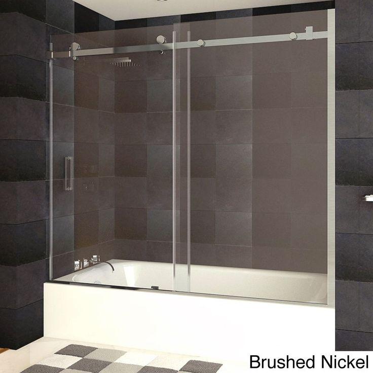 LessCare Ultra-B 58-62W x 60H Bathtub Doors, Semi-frameless,