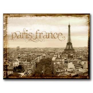 paris france vintage look