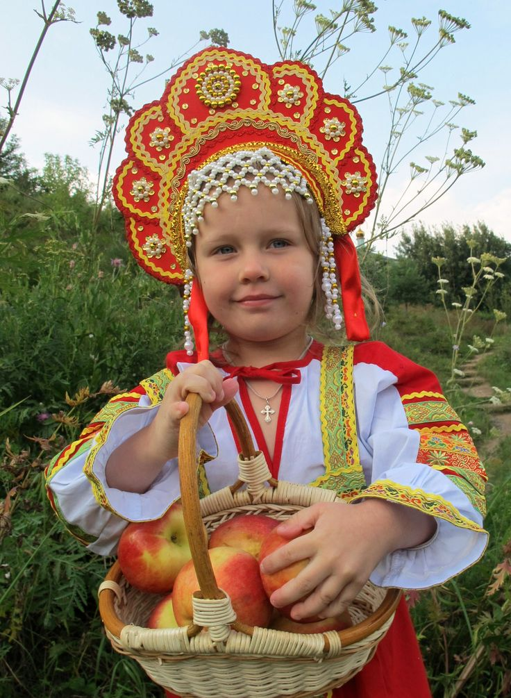 girl in the Russian traditional costume