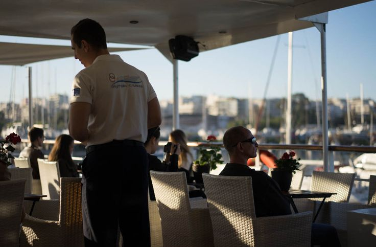 Cruise to islands close to Athens, passengers and crew
