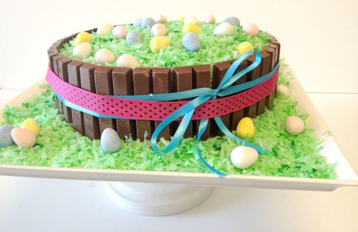 Easter Basket Cake With Kit Kat Bars