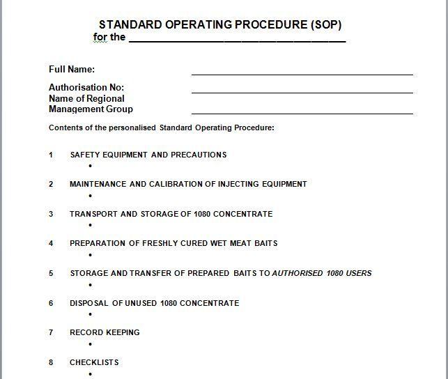Download Sop Templates 31 Standard Operating Procedure Template Standard Operating Procedure Standard Operating Procedure Examples