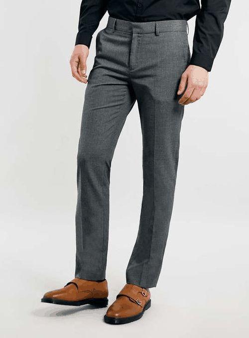 Topman | Grey Skinny Smart Trousers #topman #trousers
