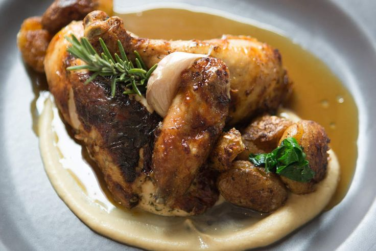 The Age, Epicure. Eat out restaurant review of Deja Vue. The rotisserie chicken. Pic Simon Schluter 13 July 2015