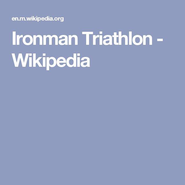 Ironman Triathlon - Wikipedia